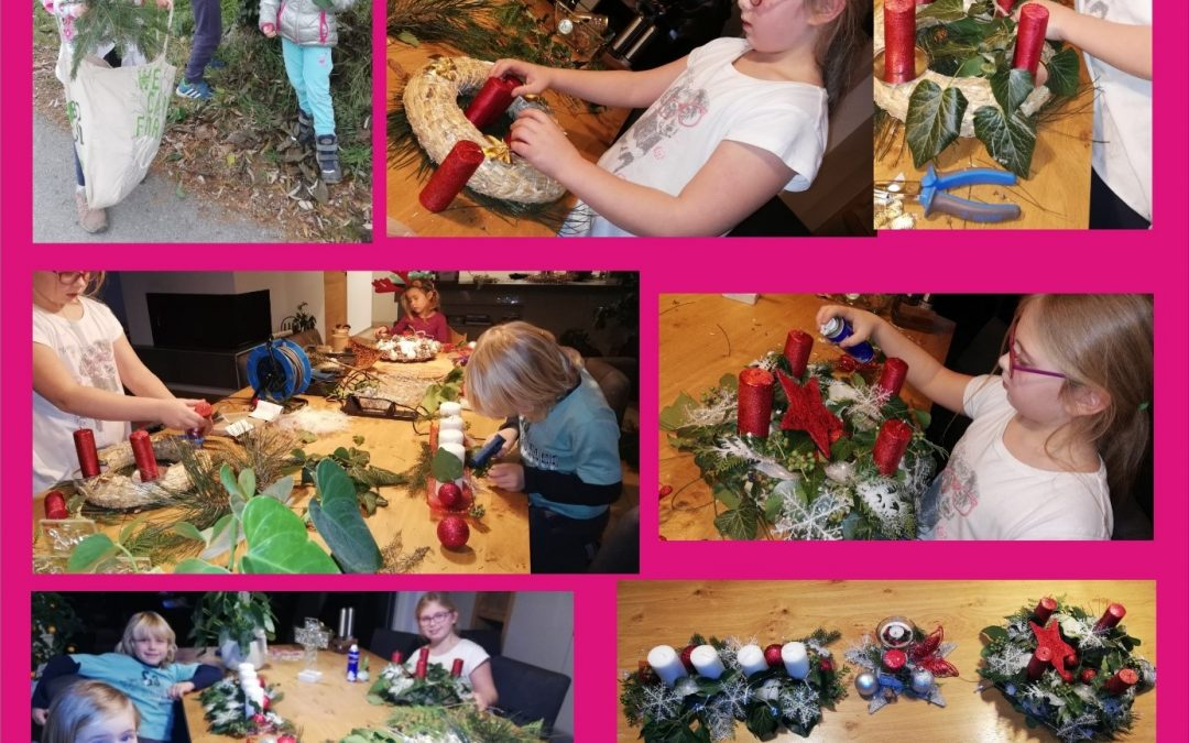Učenci 4. a so izdelali adventne venčke
